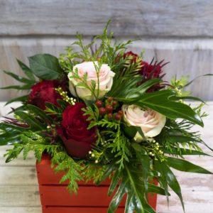 rs Caja rosas bicolor