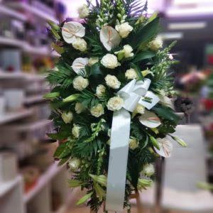 rs Centro de colgar anthurium blanco